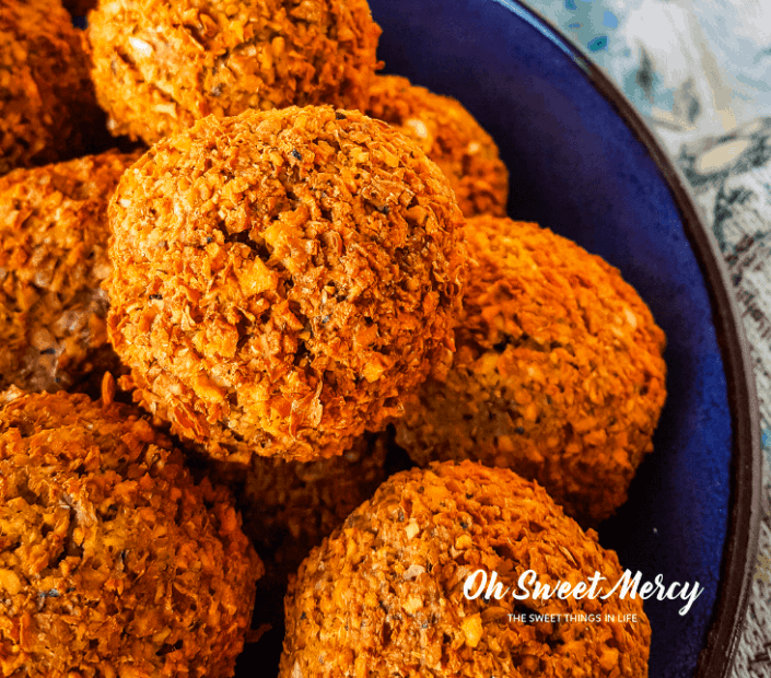 4. Air Fryer Falafel with Creamy Tahini Sauce