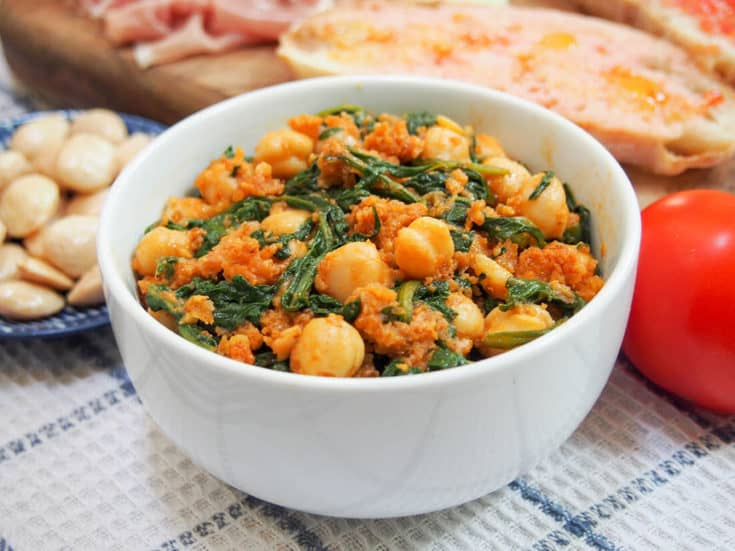 13. Spanish Chickpeas and Spinach