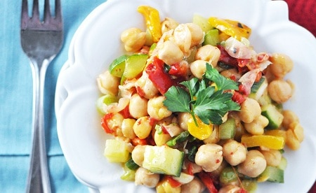 7. Vegetarian Chickpea Salad Recipe