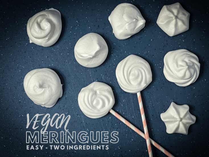 Easiest Vegan Meringue Cookies Ever with Aquafaba