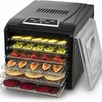 Gourmia GFD1650B GFD1650 Premium Electric Food Dehydrator Machine-Digital Timer and Temperature Control, 6 Tray, 1