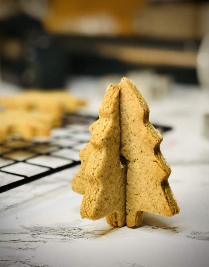 Vegan Gingerbread Cookies with Chai Espresso